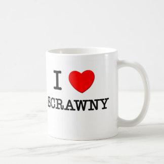 I Love Scrawny Coffee Mug