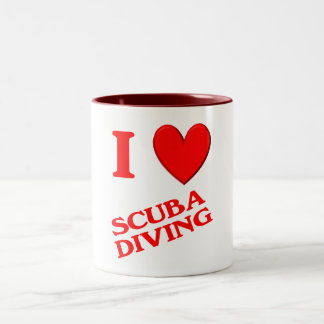 I Love Scuba Diving Mug