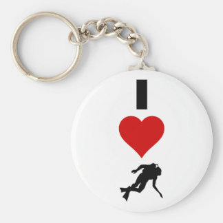 I Love Scuba Diving (Vertical) Key Ring