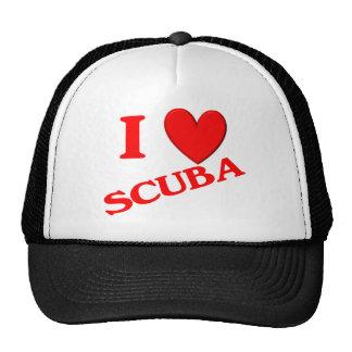 I Love Scuba Mesh Hat