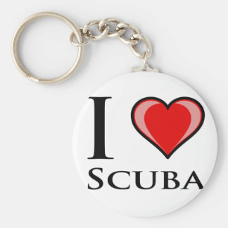 I Love Scuba Key Ring