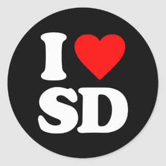 I LOVE SD STICKER