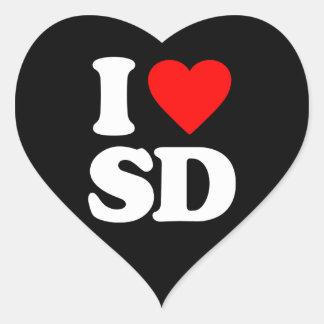 I LOVE SD HEART STICKER