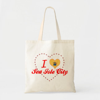 I Love Sea Isle City, New Jersey Tote Bags