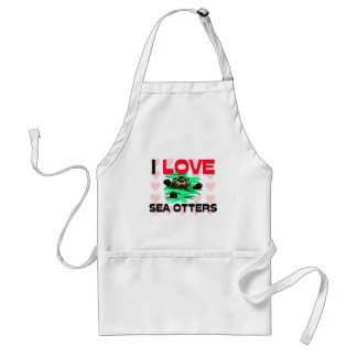I Love Sea Otters Standard Apron