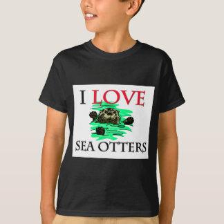 I Love Sea Otters T-Shirt