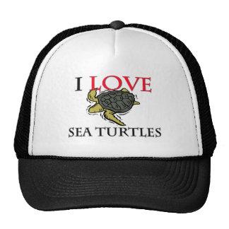 I Love Sea Turtles Trucker Hat