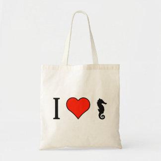 I Love Seahorses Budget Tote Bag