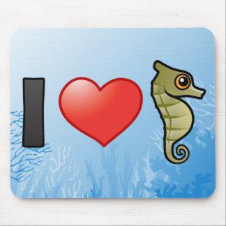 I Love Seahorses Mouse Mat