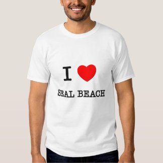 I Love Seal Beach California Tee Shirts