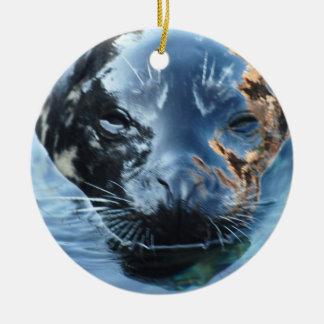 I Love Seals Ornament