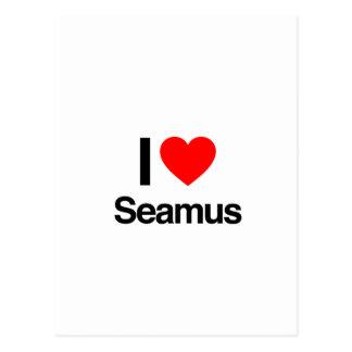 i love seamus postcard