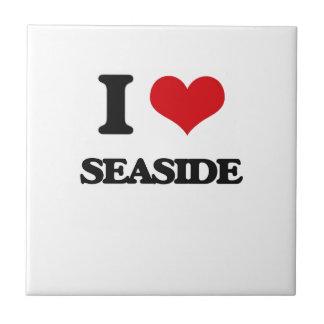 I Love Seaside Ceramic Tile
