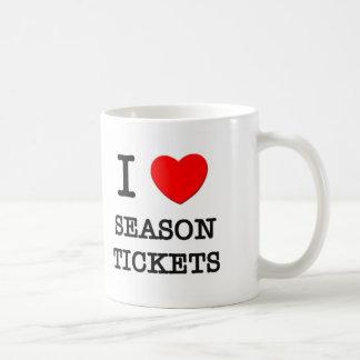 I Love Season Tickets Coffee Mugs