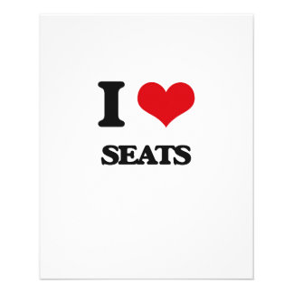 I Love Seats 11.5 Cm X 14 Cm Flyer