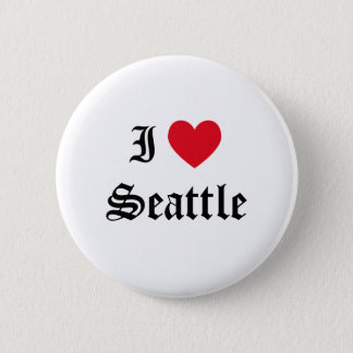 I Love Seattle 6 Cm Round Badge