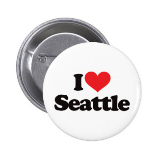 I Love Seattle 6 Cm Round Badge