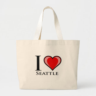 I Love Seattle Canvas Bags