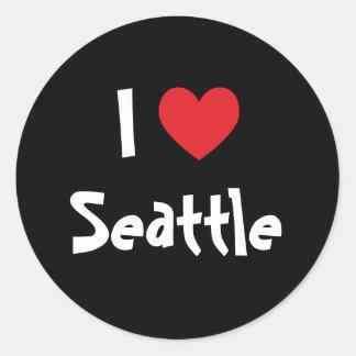 I Love Seattle Classic Round Sticker