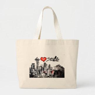 I love Seattle Large Tote Bag