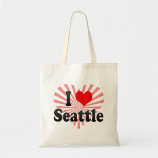 I Love Seattle, United States Tote Bag