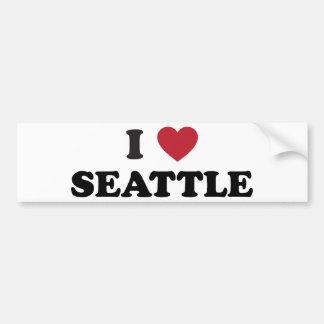 I Love Seattle Washington Bumper Sticker