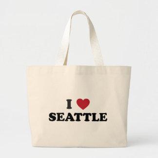 I Love Seattle Washington Jumbo Tote Bag