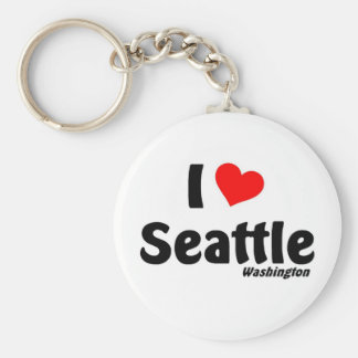 I love Seattle Washington Key Ring