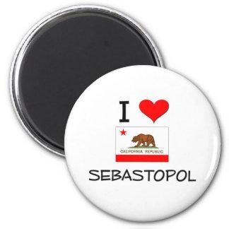 I Love SEBASTOPOL California 6 Cm Round Magnet