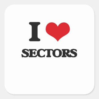 I Love Sectors Square Sticker