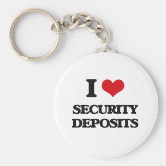 I Love Security Deposits Basic Round Button Keychain