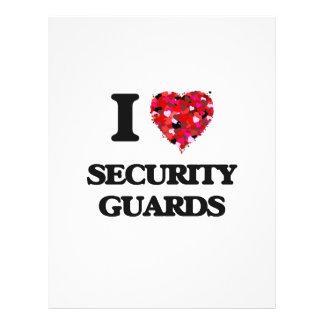 I love Security Guards 21.5 Cm X 28 Cm Flyer