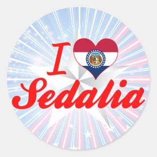 I Love Sedalia, Missouri Stickers
