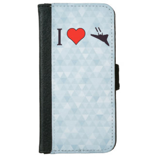 I Love Seeing Jet Planes iPhone 6 Wallet Case