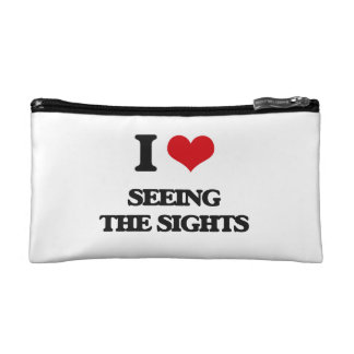 I Love Seeing The Sights Cosmetic Bags