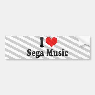I Love Sega Music Bumper Stickers