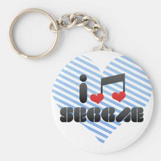 I Love Seggae Keychain