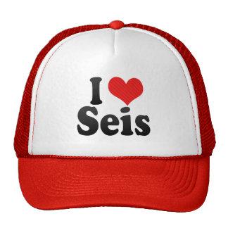 I Love Seis Mesh Hats