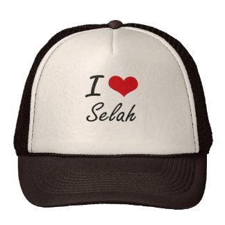I Love Selah artistic design Cap