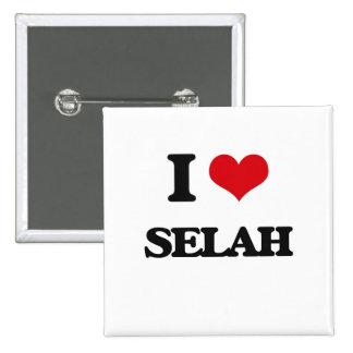 I Love Selah 2 Inch Square Button