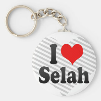 I love Selah Basic Round Button Key Ring