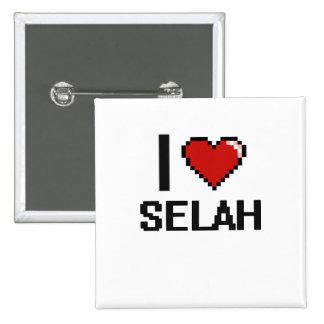 I Love Selah Digital Retro Design 15 Cm Square Badge