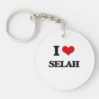 I Love Selah Single-Sided Round Acrylic Keychain