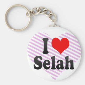 I love Selah Keychain