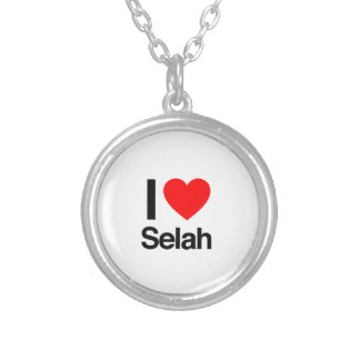 i love selah round pendant necklace