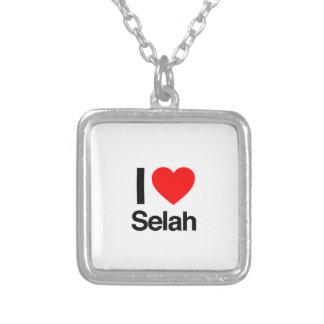 i love selah square pendant necklace