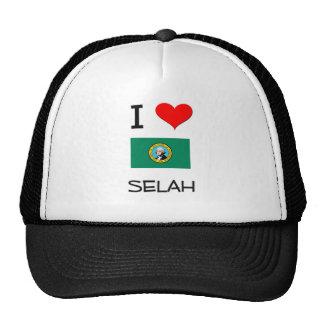 I Love Selah Washington Trucker Hats