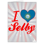 I Love Selby, South Dakota Greeting Cards