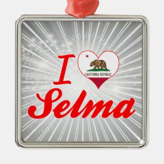I Love Selma, California Christmas Tree Ornaments