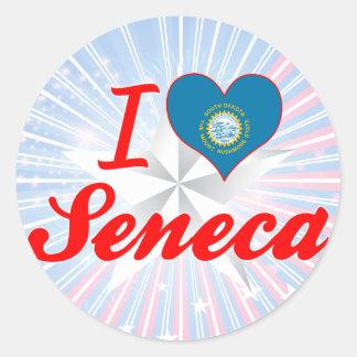 I Love Seneca, South Dakota Stickers
